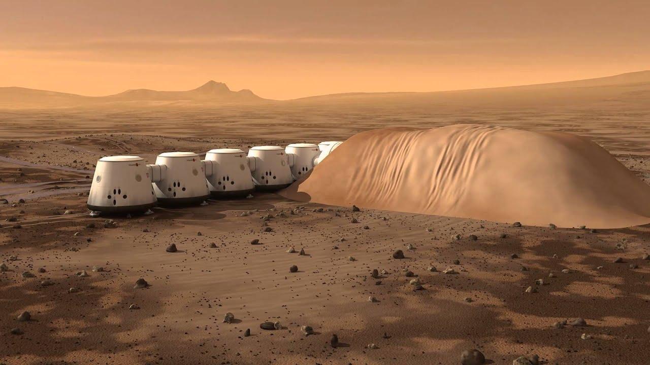 Почти идиллический пейзаж воображаемой марсианской колонии.