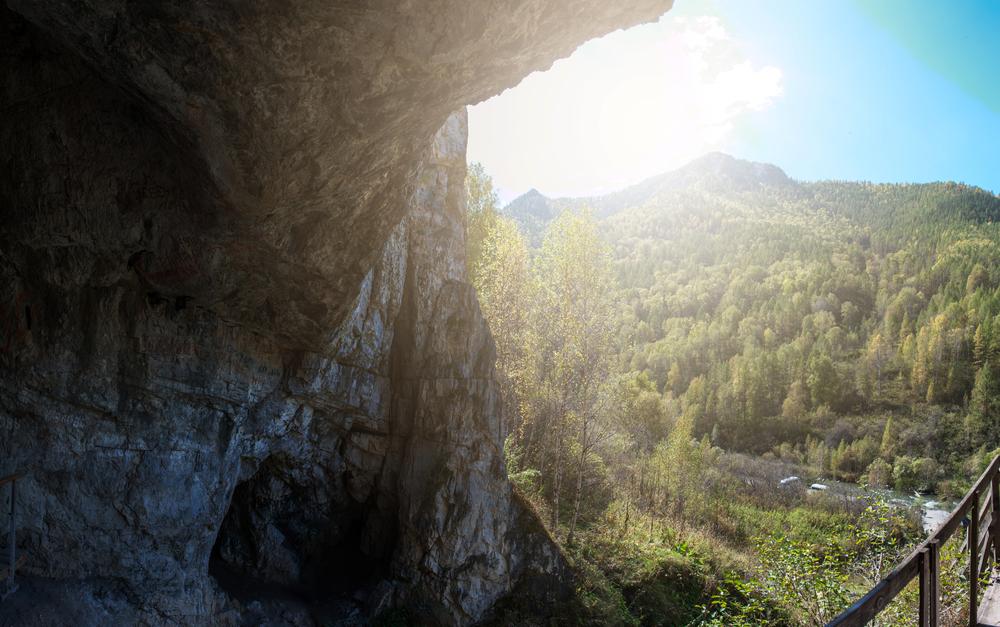 Вид из Денисовой пещеры, Алтай