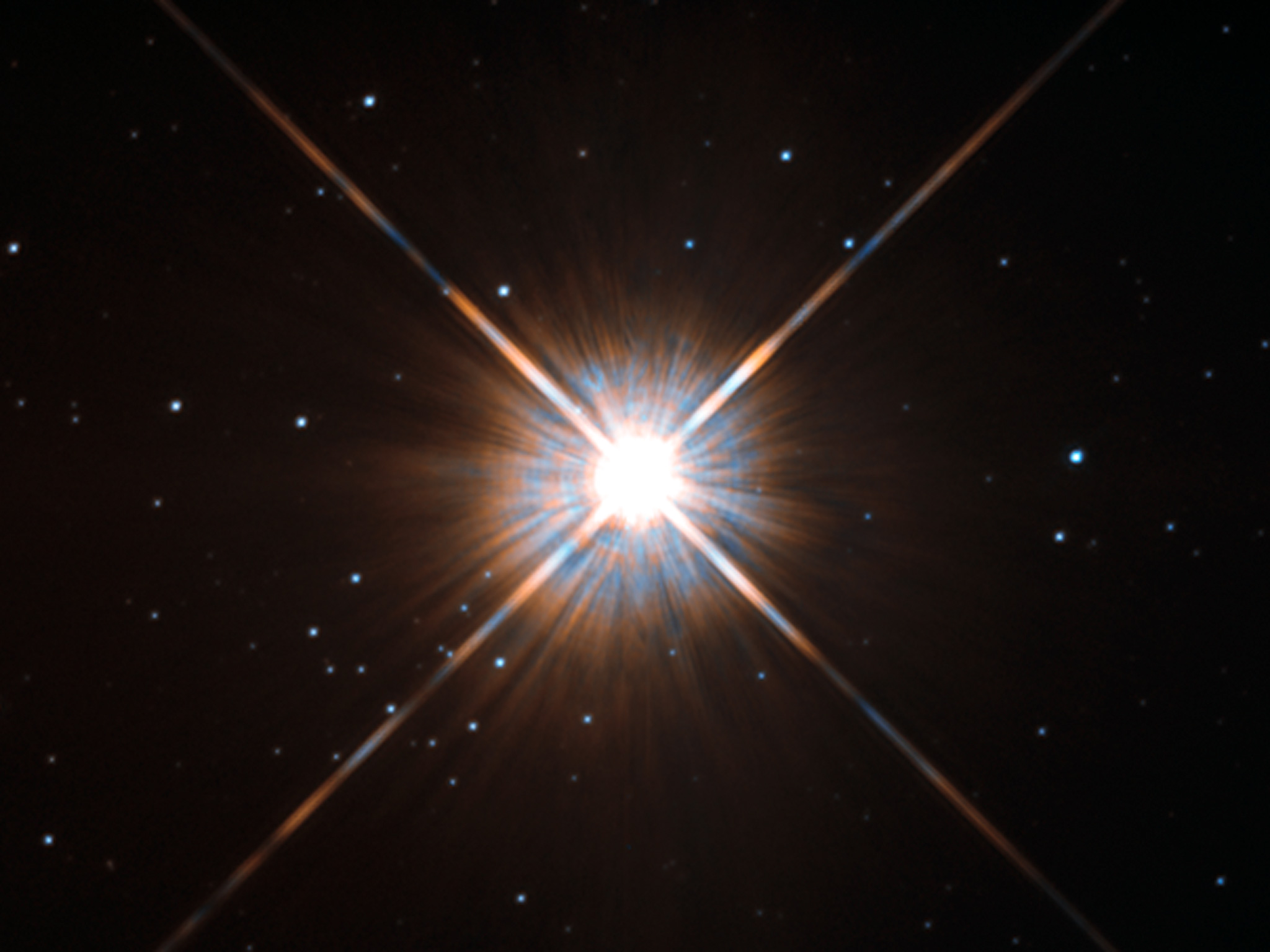 Сделанный телескопом «Хаббл» снимок Проксимы Центавра, ближайшей кСолнцу звезды, планеты которой могут быть похожи наЗемлю.