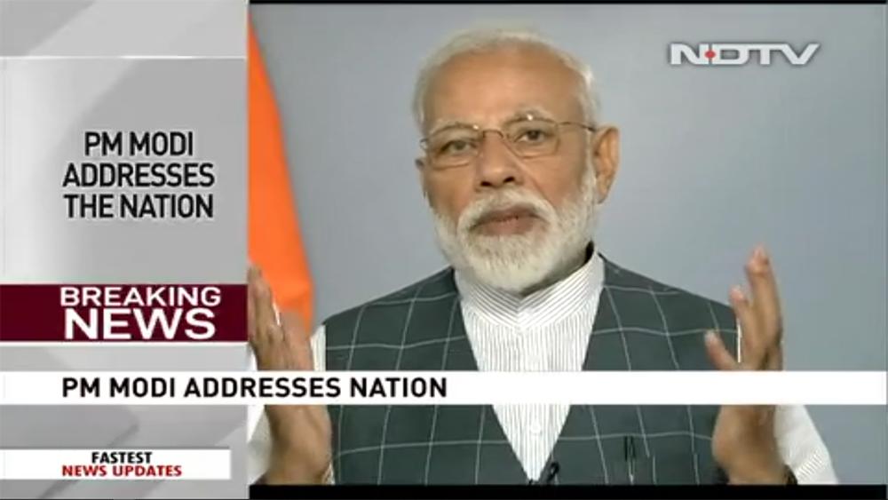Премьер-министр Индии Н. Моди вэфире NDTV.