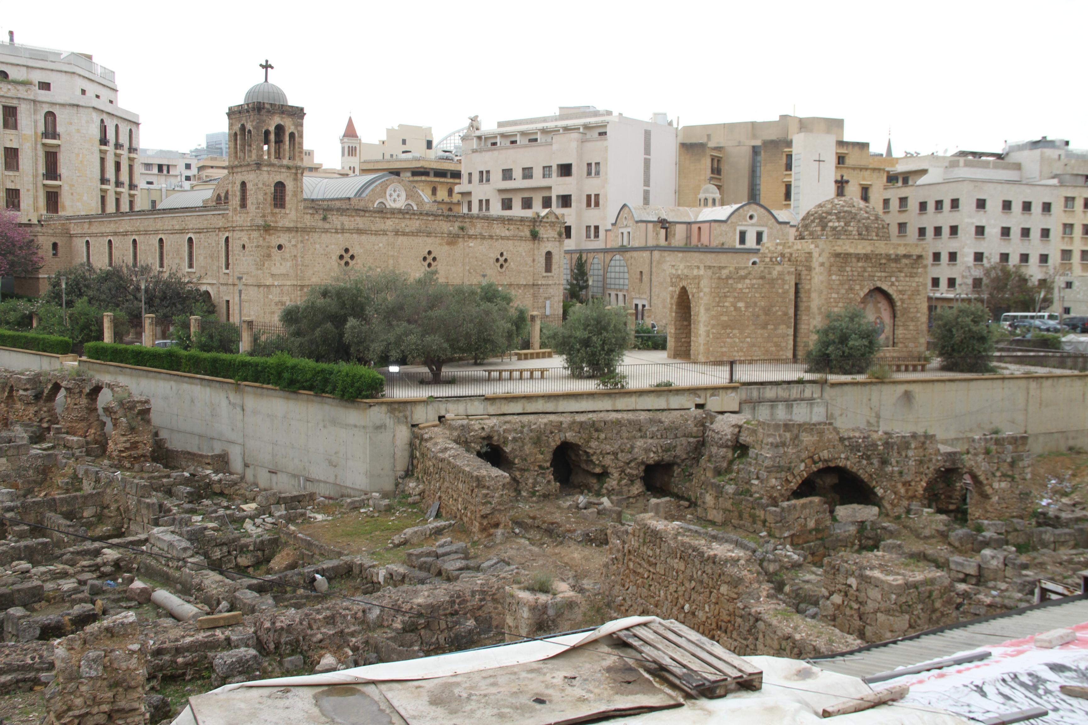 Руины римских бань вБейруте