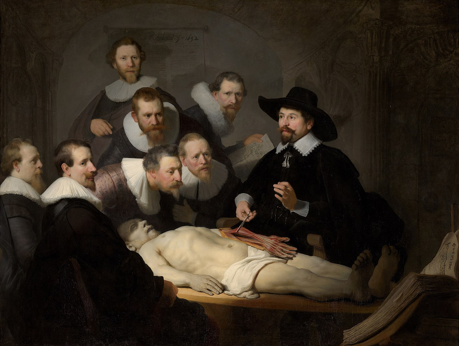 Rembrandt. The Anatomy Lesson of Dr. Nicolaes Tulp.