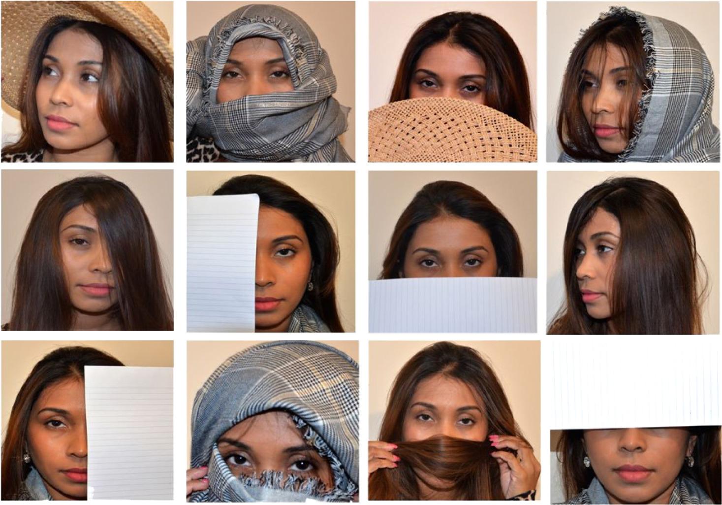 Распознавание половины лица улучшается, если обучать модель начастях лиц.