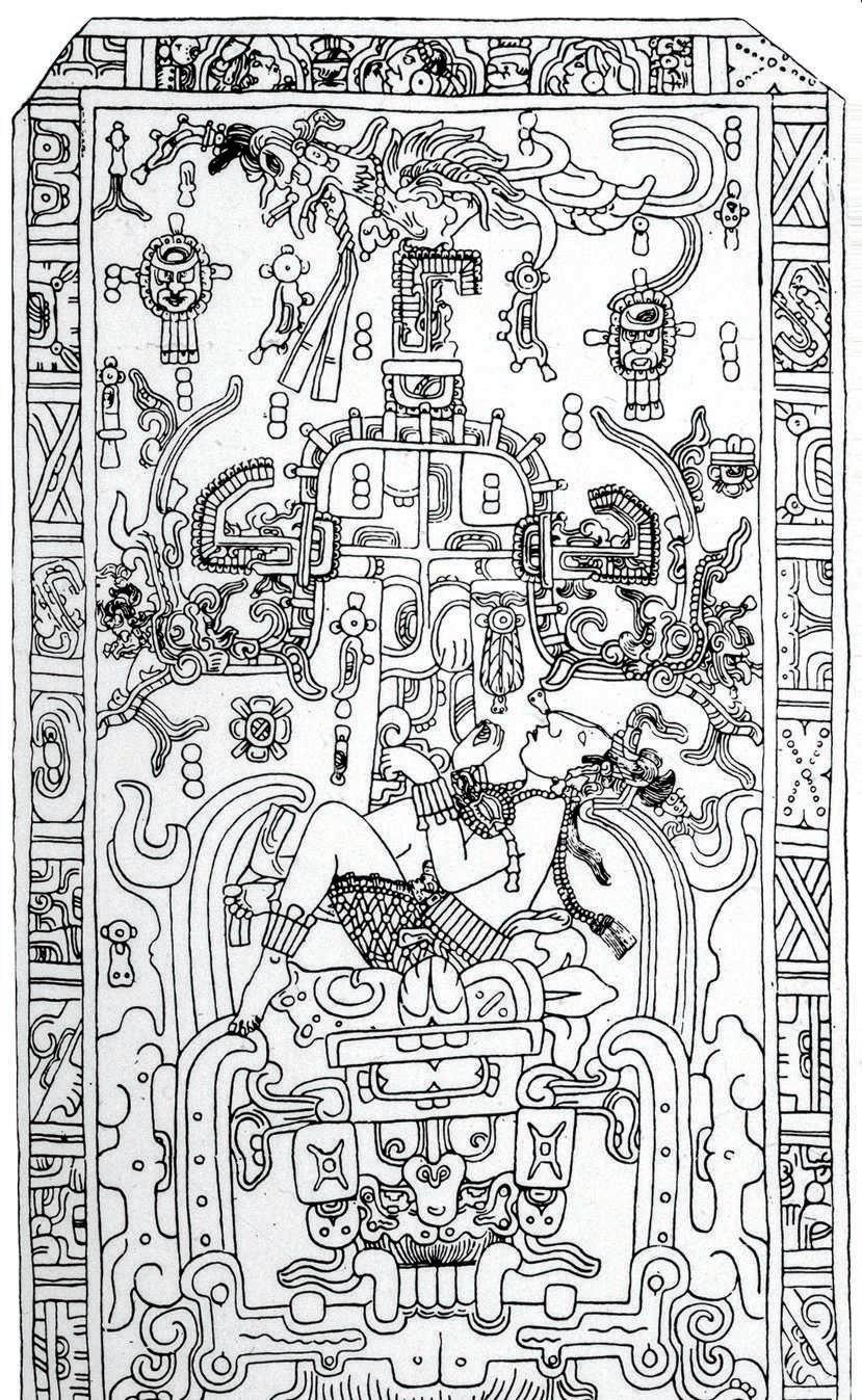 То самое изображение Пакаля накрышке саркофага.