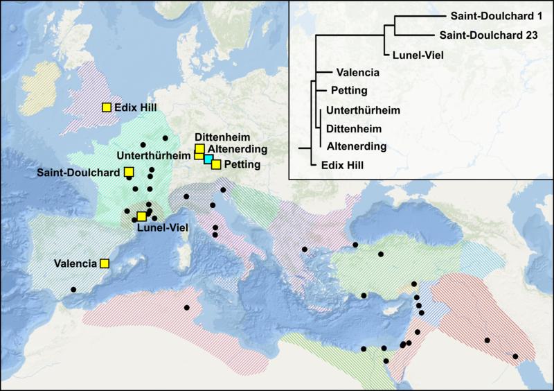 Карта Y. pestis