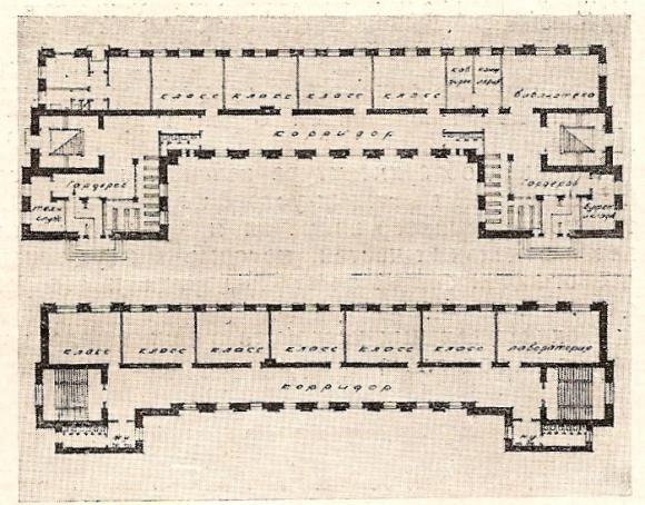Изображение 4— План школы по проекту Троцкого, Мартынова иЧурилина.