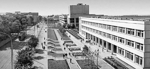 Изображение 13— Видна вписанность школы вландшафт города.