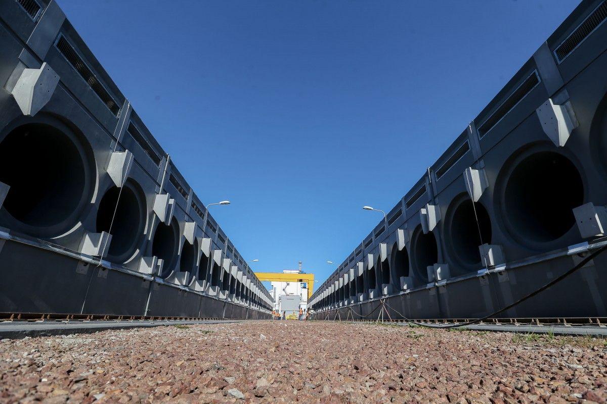 Хранилище отработанного ядерного топлива сухого типа.