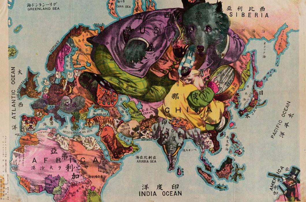 Японская карта 1916 года
