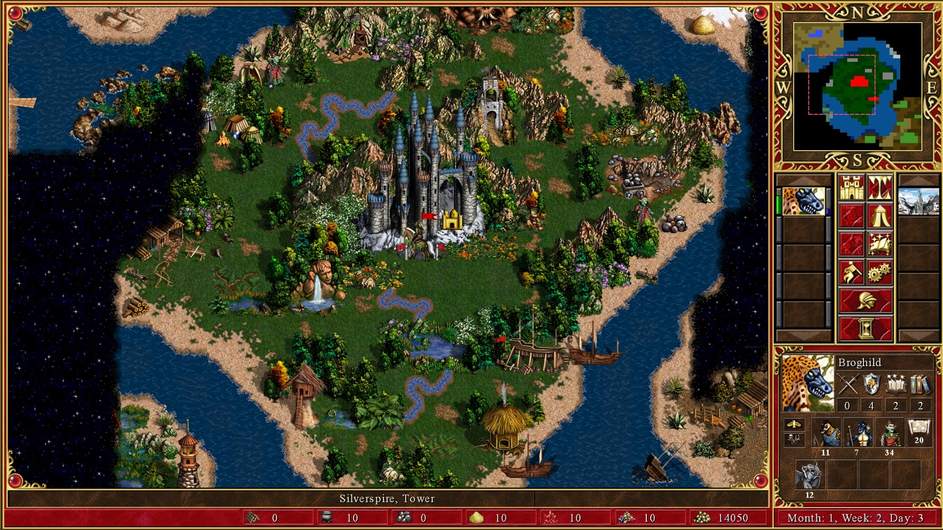 Скриншот из <i>Heroes of Might and Magic III</i>. Так сложилось, что именно эта версия игры считается вРоссии (и нетолько) наиболее «каноничной».