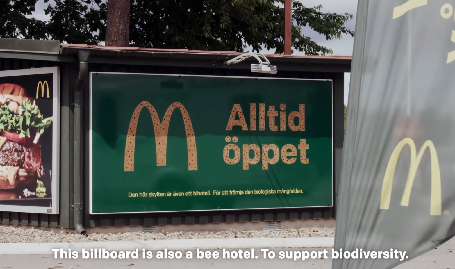 Билборд, поддерживающий биоразнообразие.