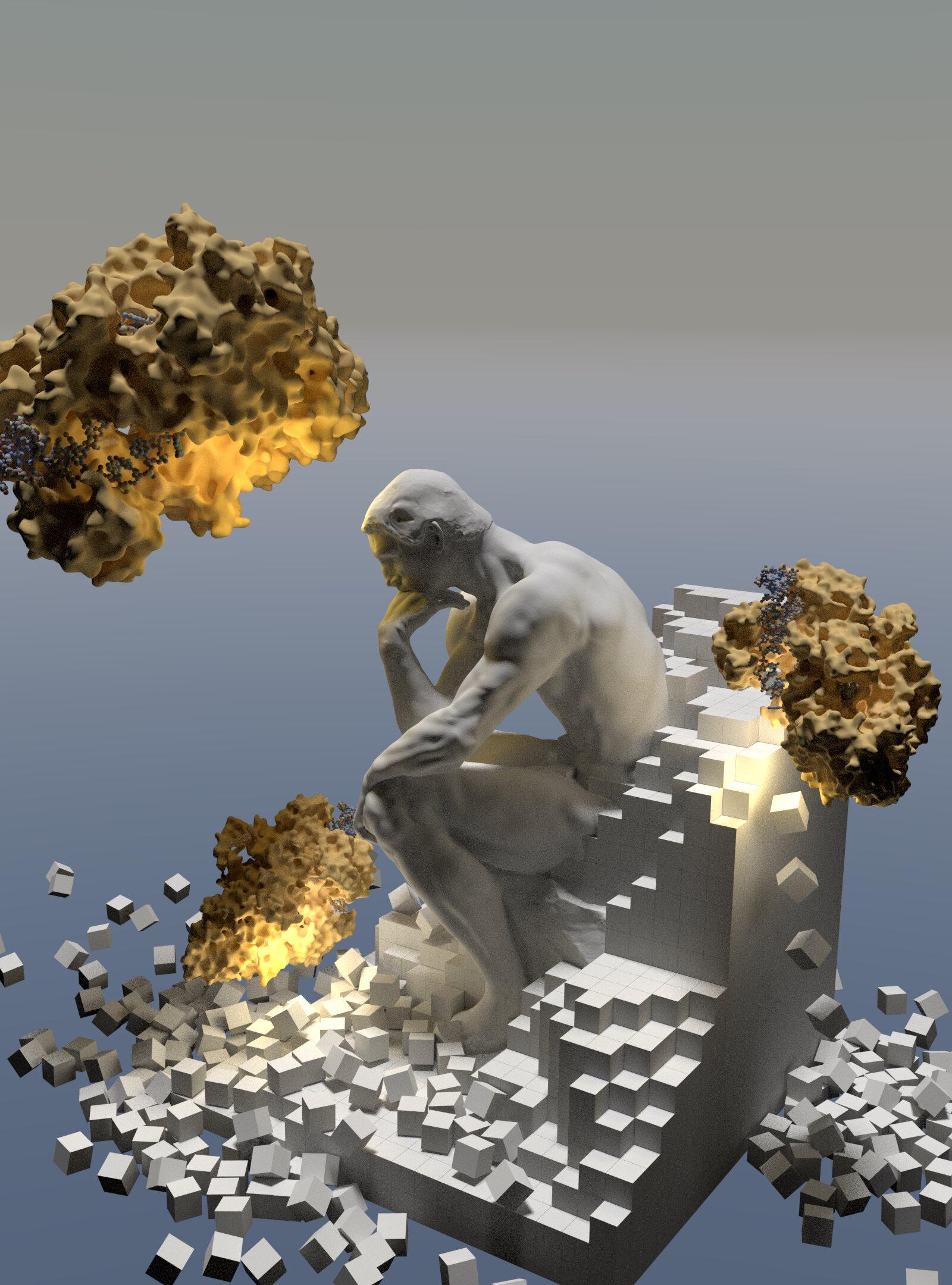 Иллюстрация: биоматериалы «умнеют» под действием CRISPR.