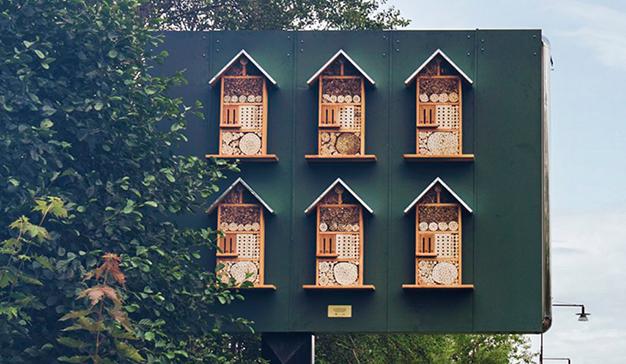 Креативная реклама «Макдоналдс» вШвеции: домики для пчёл
