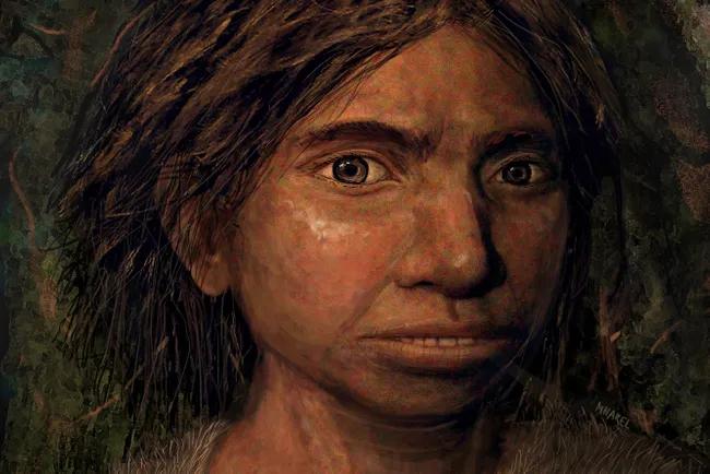 Художественная реконструкция денисовской девочки