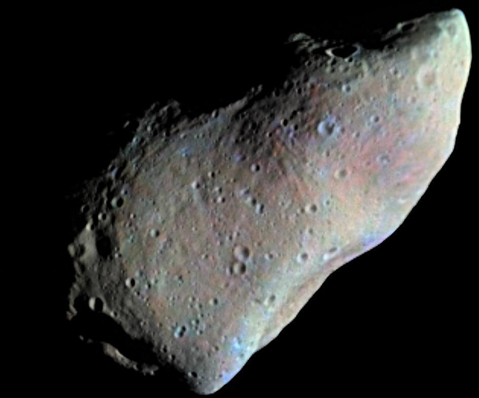 Типичный астероид неправильной формы— 951 Гаспра, размер около 12км (снимок саппарата Galileo, 1991г.)