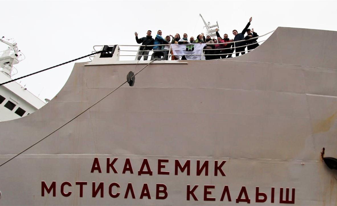 Участники экспедиции вВосточно-Сибирском море