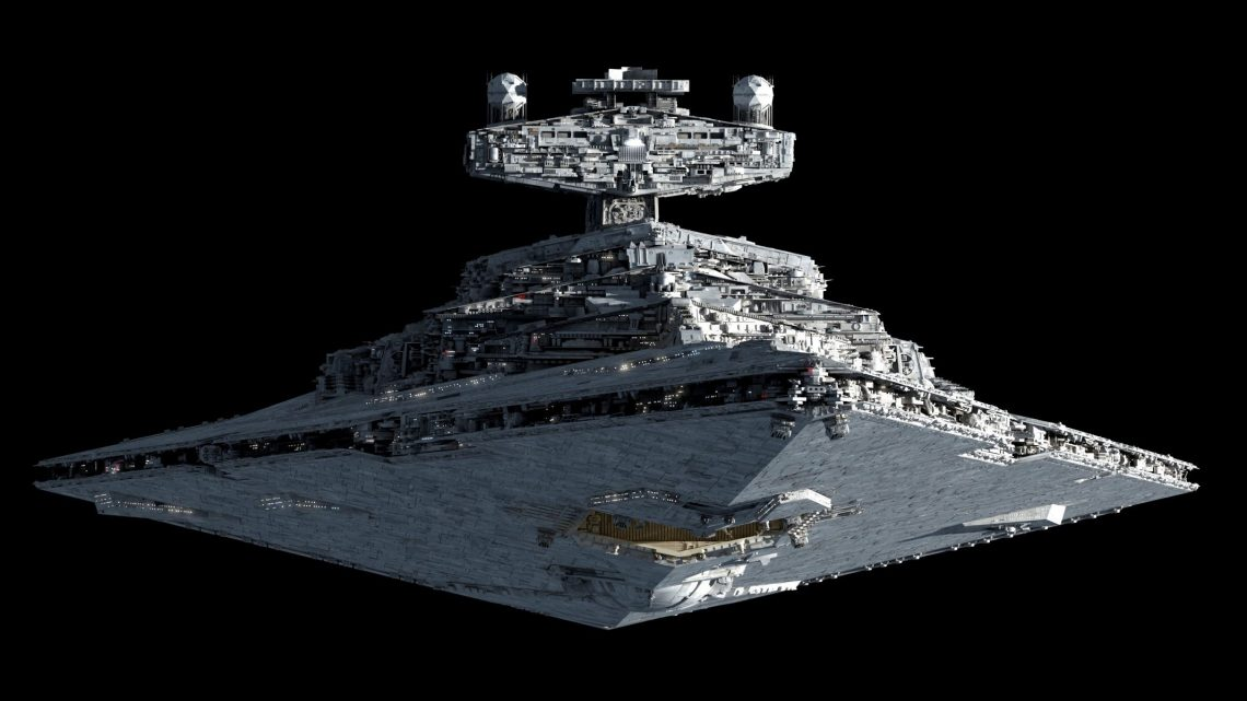 Звёздный крейсер из Звёздных Войн