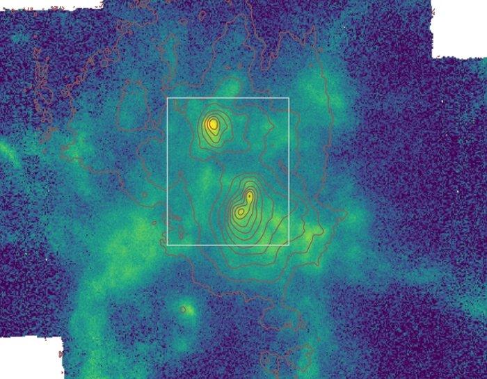 Три сверхмассивных чёрных дыры вгалактике NGC 6240