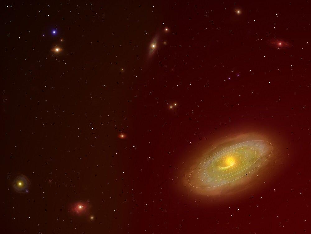 Мы представляем себе экзопланеты примерно так. Целевой участок неба проекта <i>DMPP</i>.