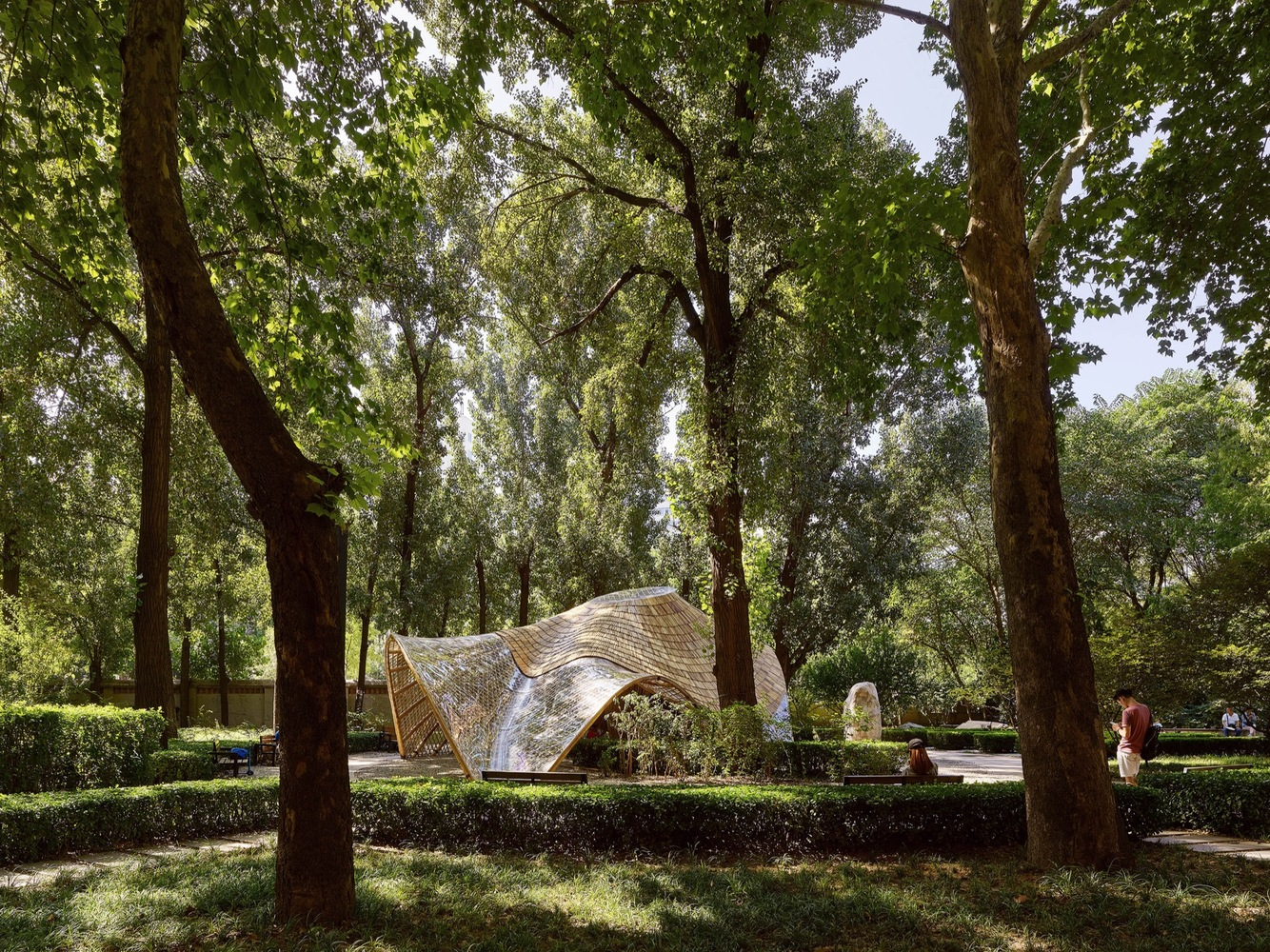 UP Atelier — Swirling Cloud: Bulletin Pavilion for BJFU Garden Festival