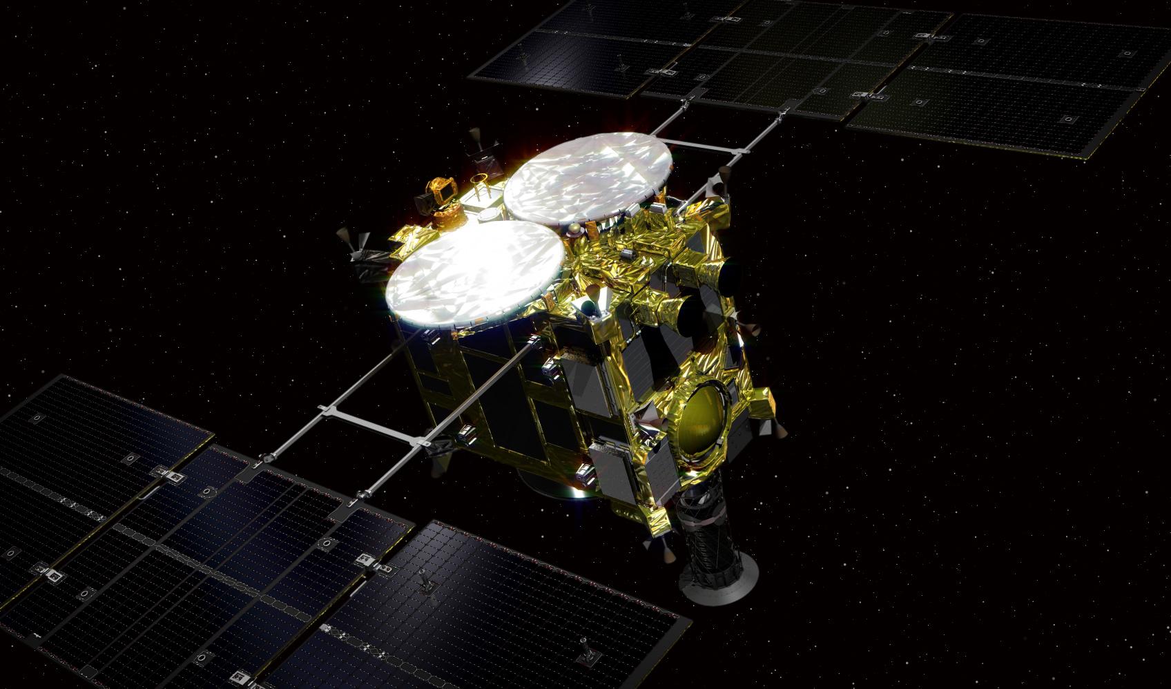 Японский космический робот для исследования астероидов начал путь наЗемлю