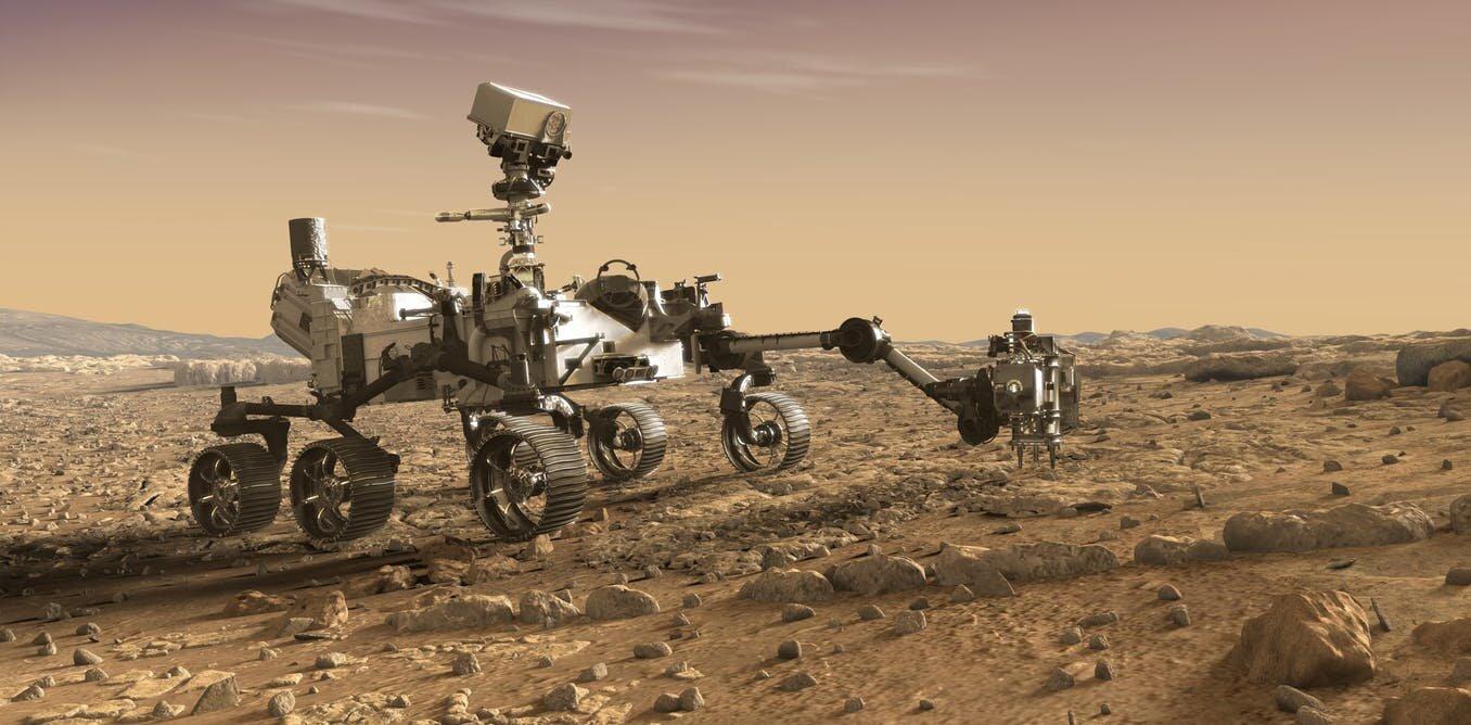 Марсоход <i>Mars 2020</i> (рисунок <i>NASA</i>).