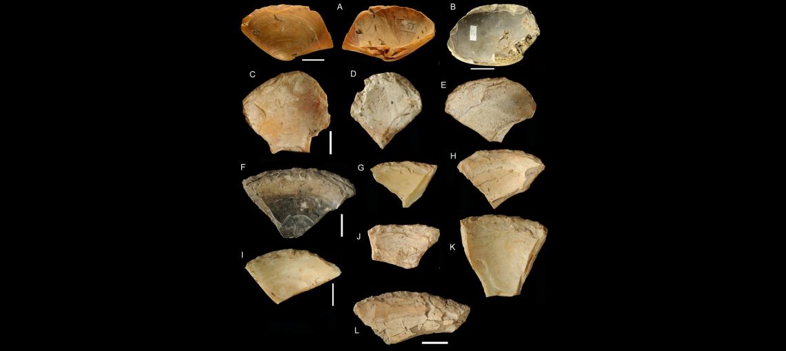 Орудия из раковин, найденные впещере Гротта дей Мошерини