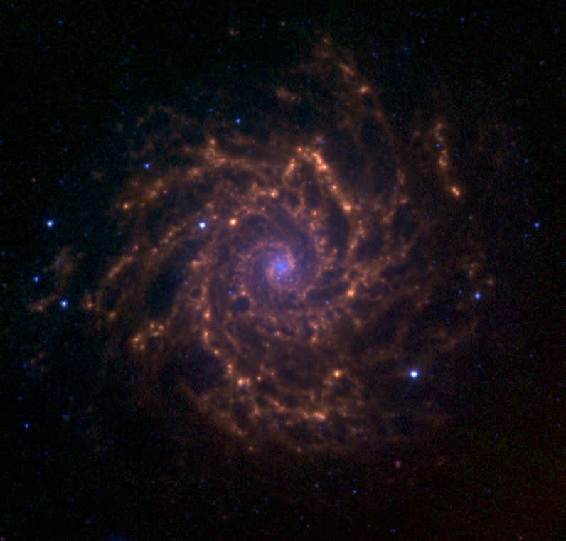 M74 infrared