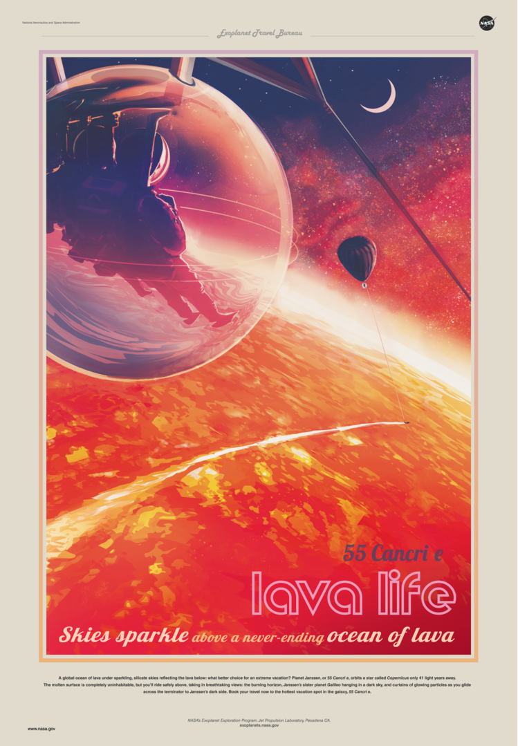Exoplanet Travel Bureau poster 55 Cancri e
