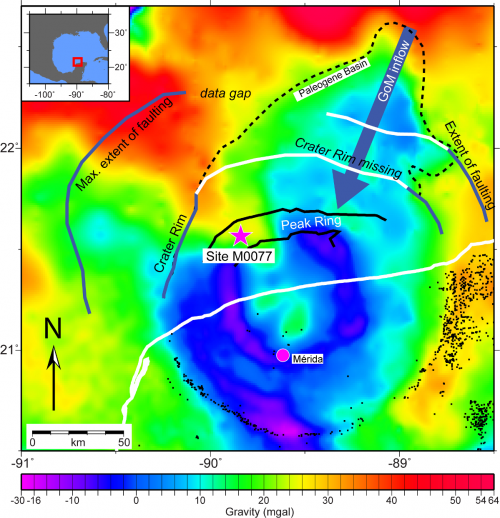 Chicxulub gravity map