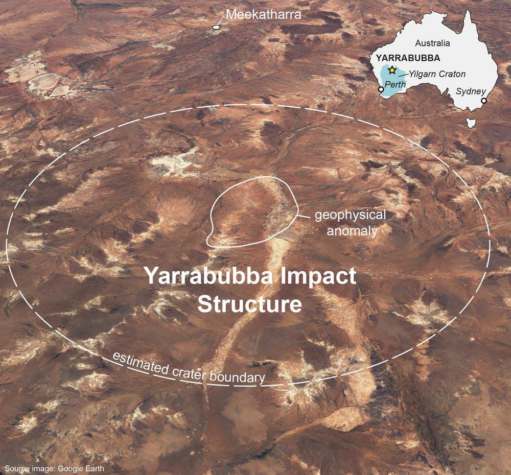 Метеорит, упавший наАвстралию 2 миллиарда лет назад, образовал самый древний кратер ипрервал ледниковый период
