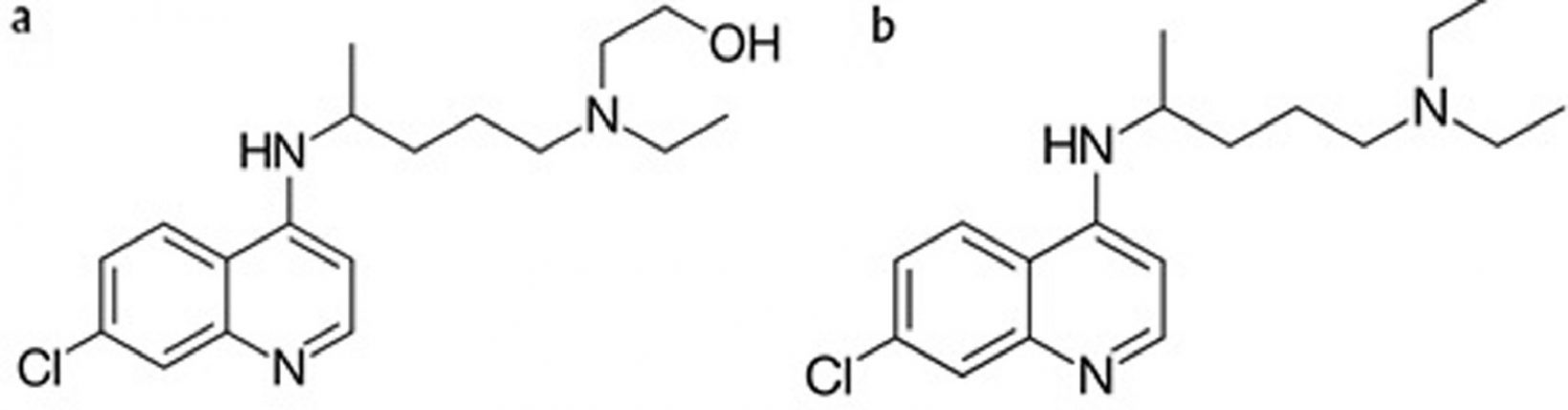 Гидроксихлорохин (a) ихлорохин (b)