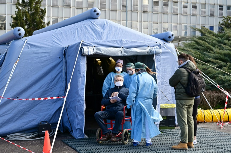 Medical tent in Italy