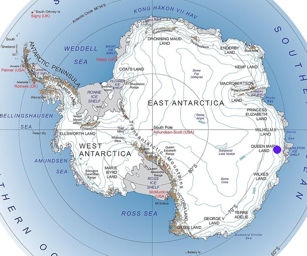 География Антарктиды иледник Денмена навостоке Антарктиды.