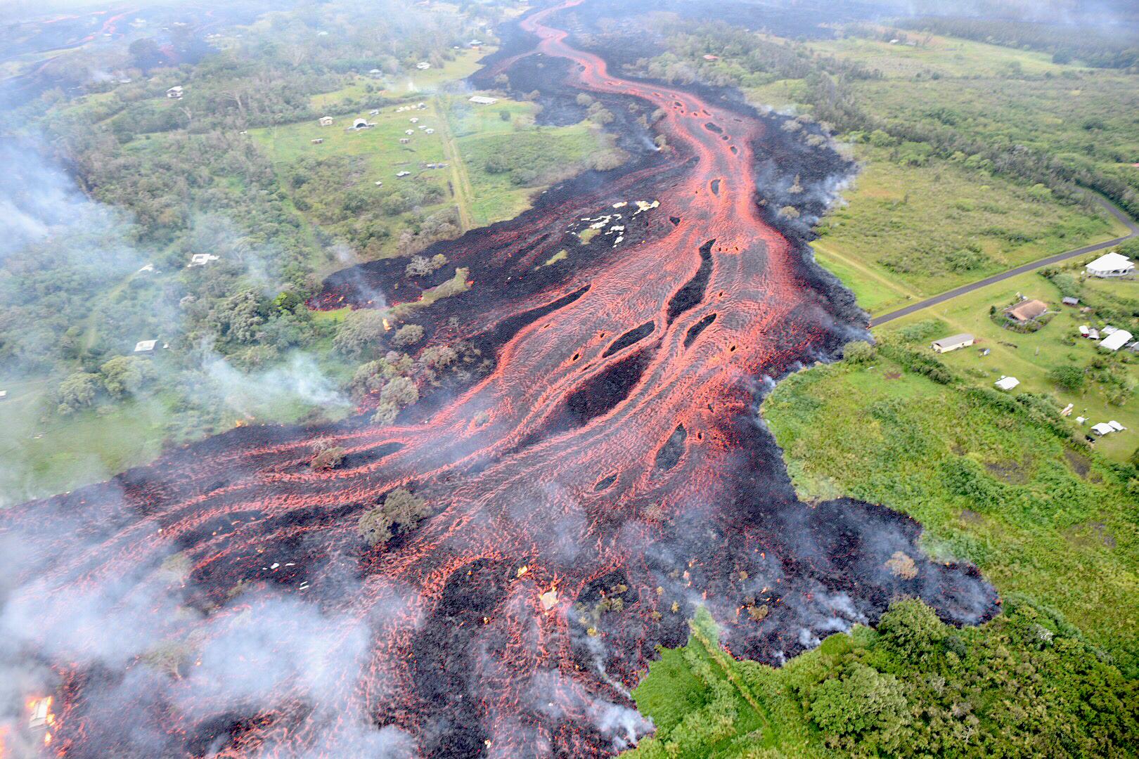 Kilauea lava flow 2018