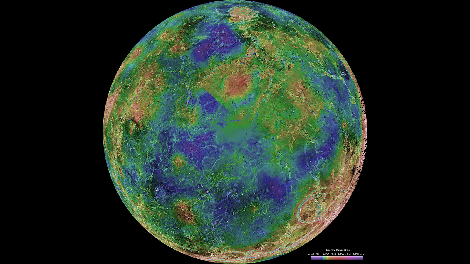 Venus radar map