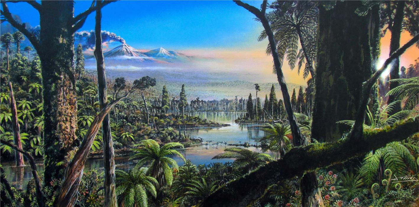 Мезозойский влажный тропический лес.