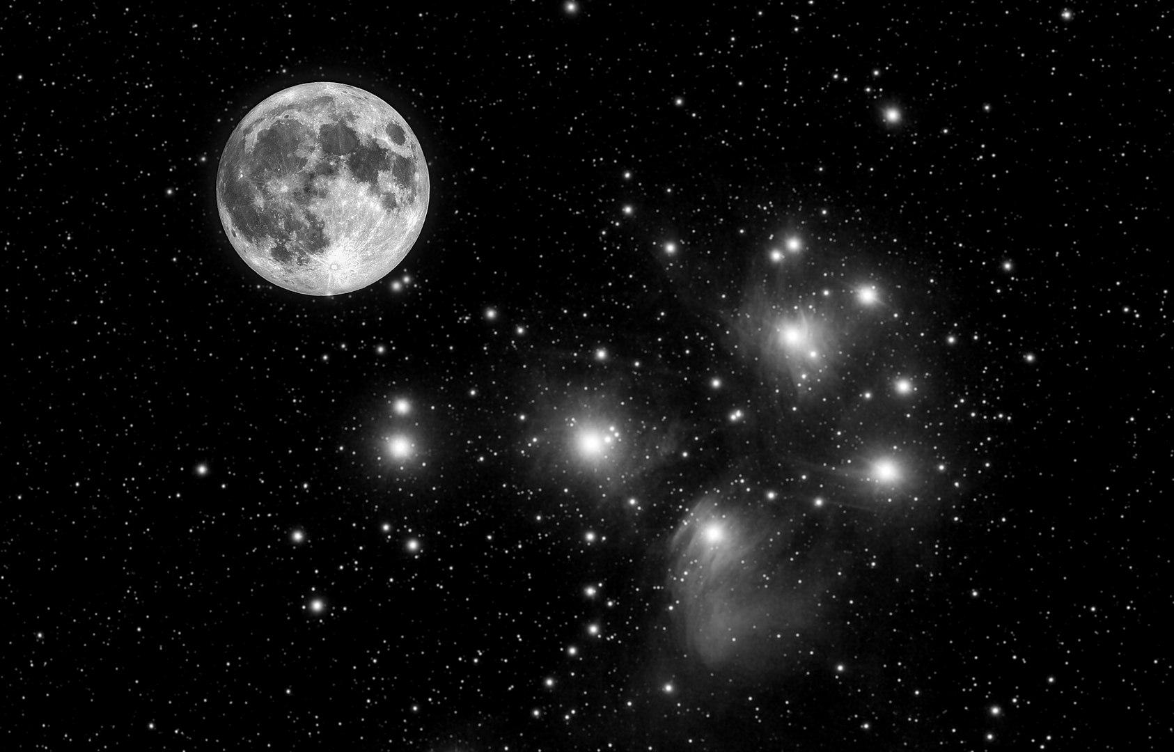 Pleiades and SuperLuna