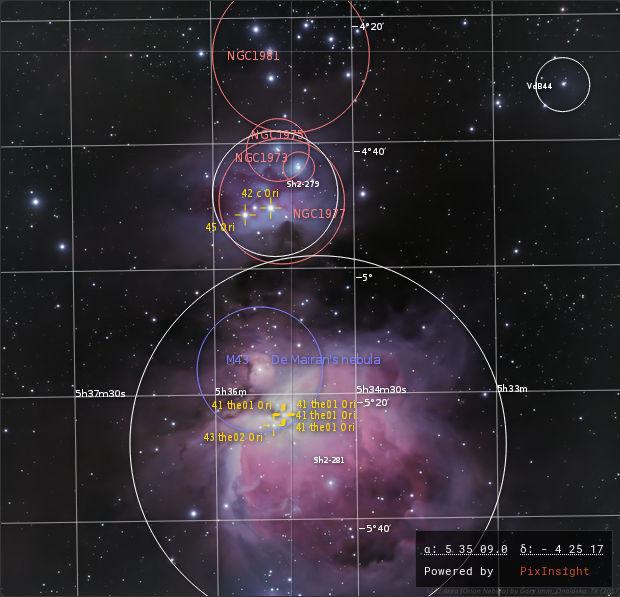 Orion Nebula chart