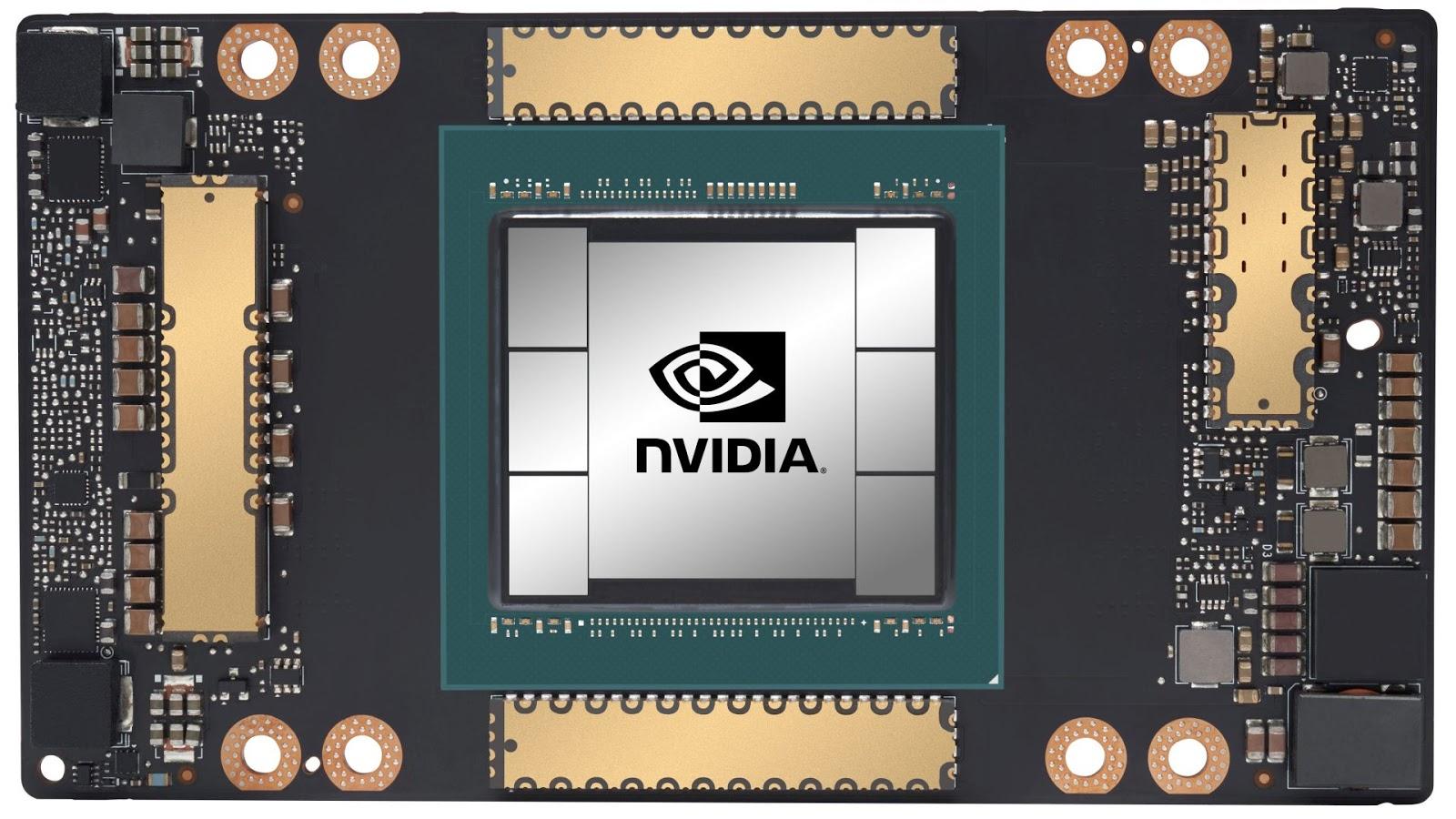 NVIDIA A100 GPU .