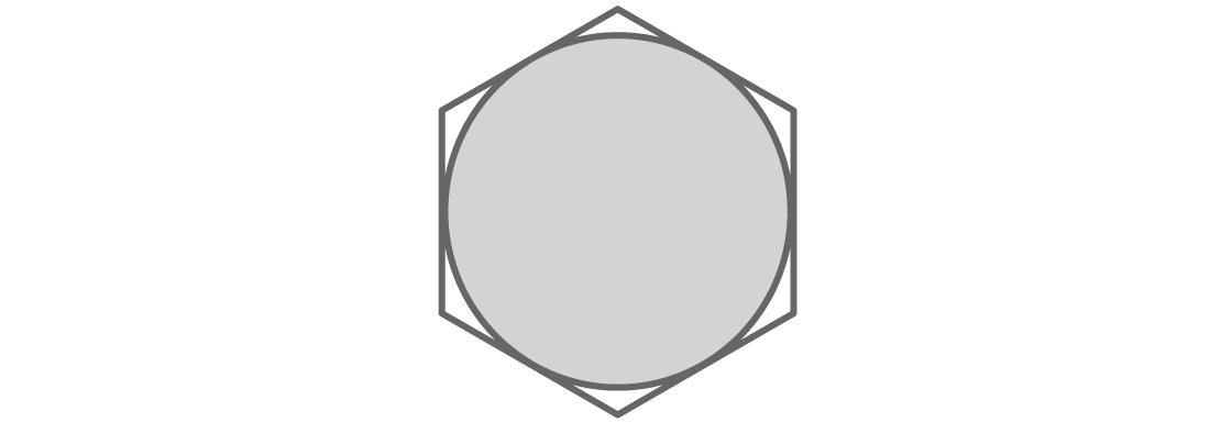 Шестиугольник закрывает круг