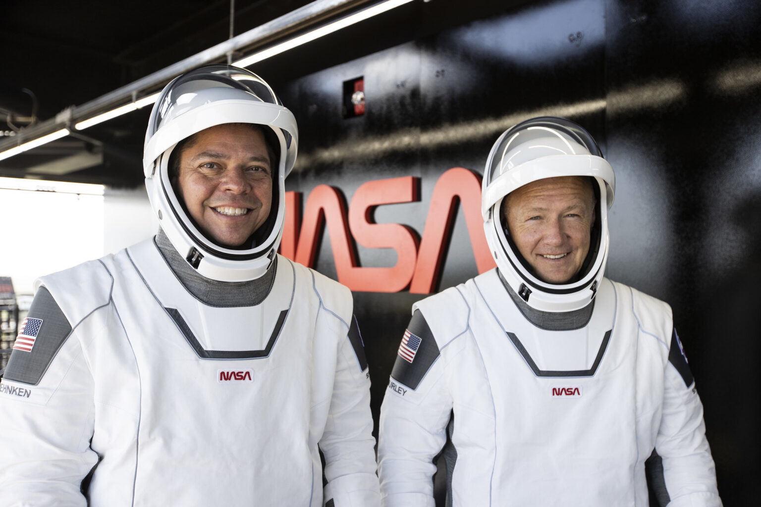 Behnken and Hurlay astronauts