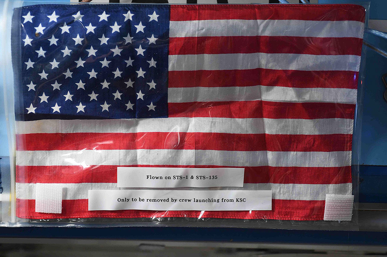ISS USA flag