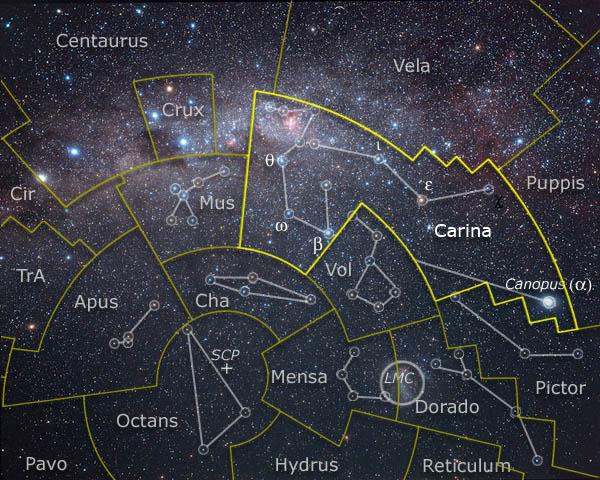 southern sky map