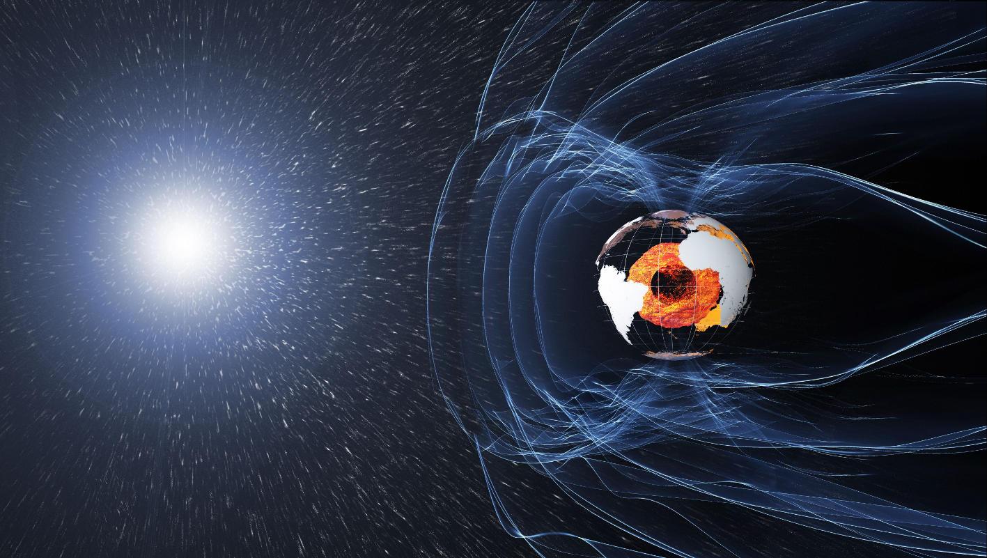 Магнитное поле Земли защищает от космического излучения.