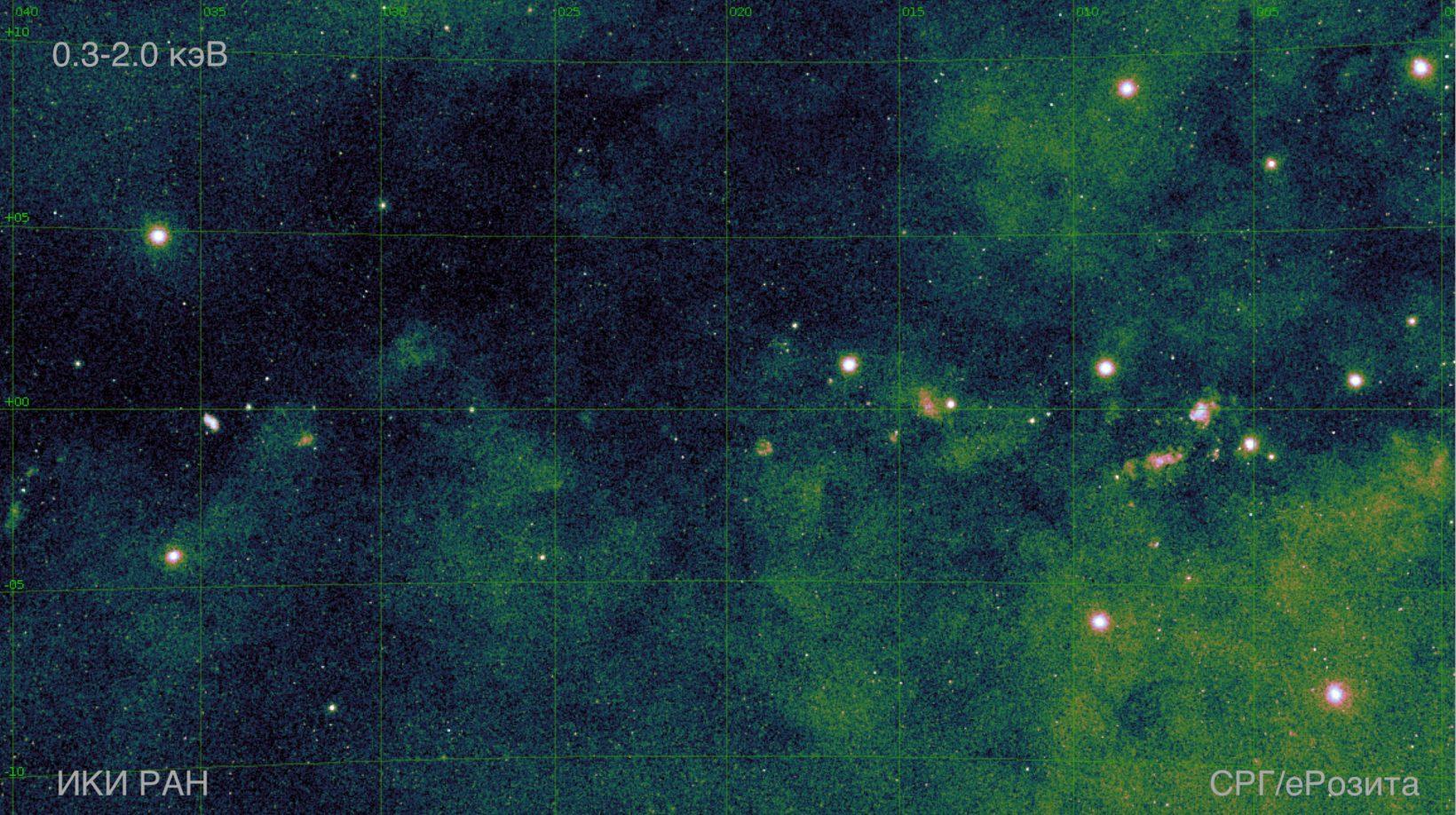 Galaxy center closeup in X-Ray survey