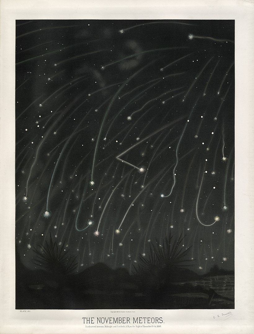 November meteor shower by E.Trouvelot, 1868