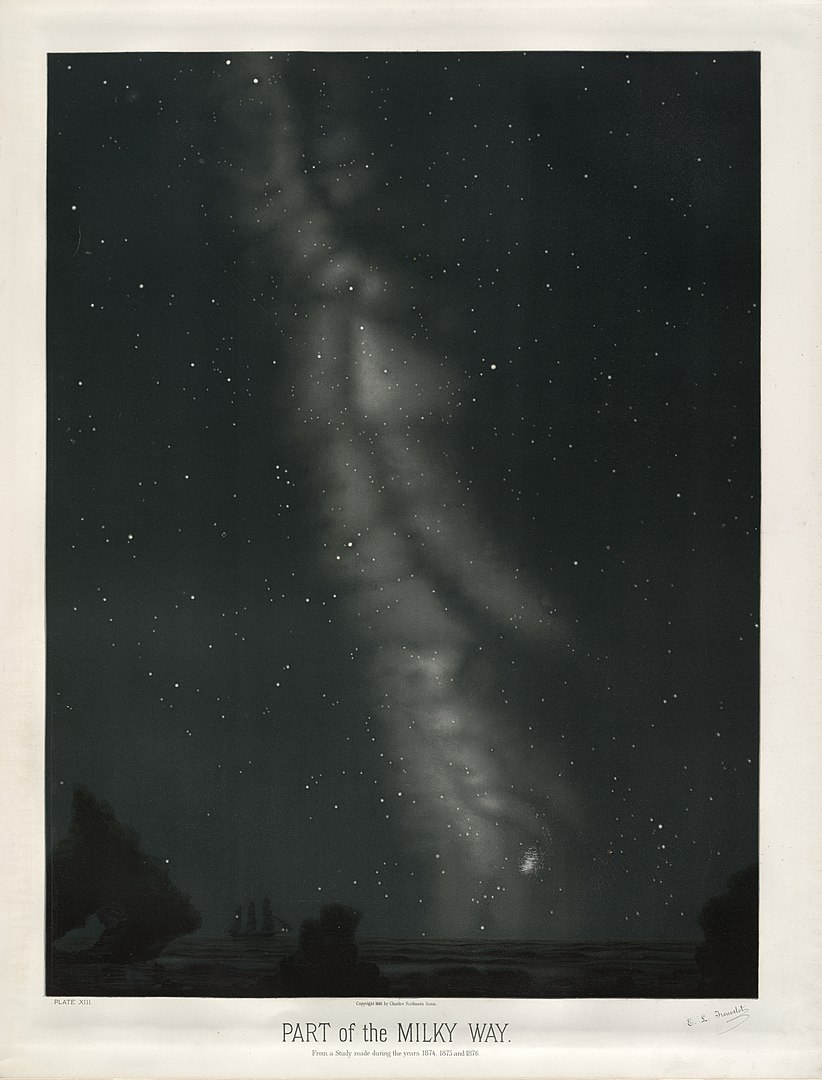 Milky Way by E.Trouvelot, 1874-1876