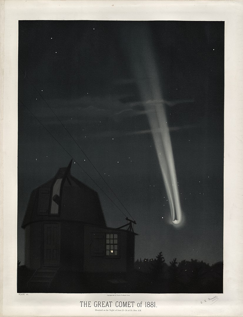 Great Comet of 1881 by E.Trouvelot