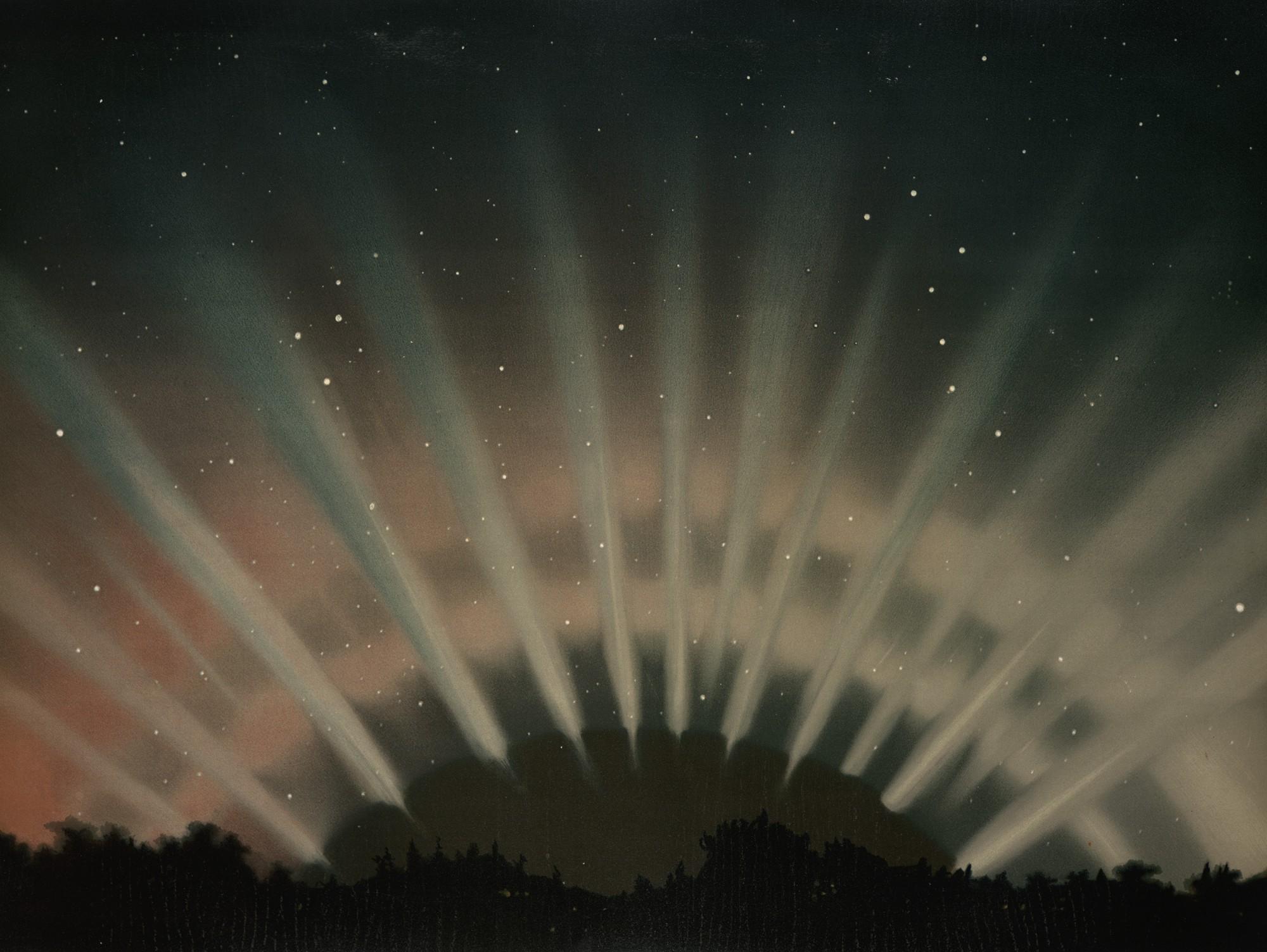 Aurora Borealis by E.Trouvelot, 1872